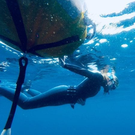 Free Diver Breathing Up