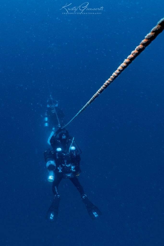 Descending on an anchor line